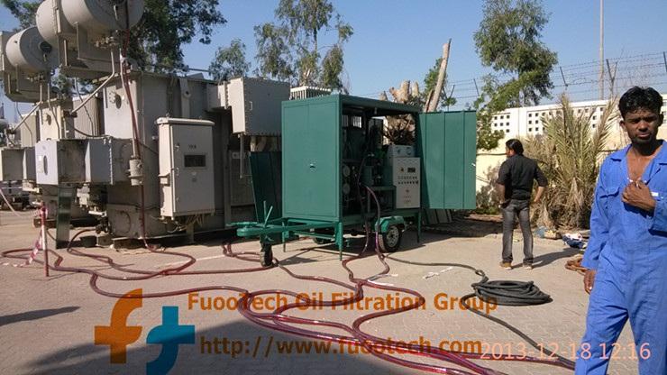 ZYD-100 (6000 LPH oil filtrtion machine)at Dubai