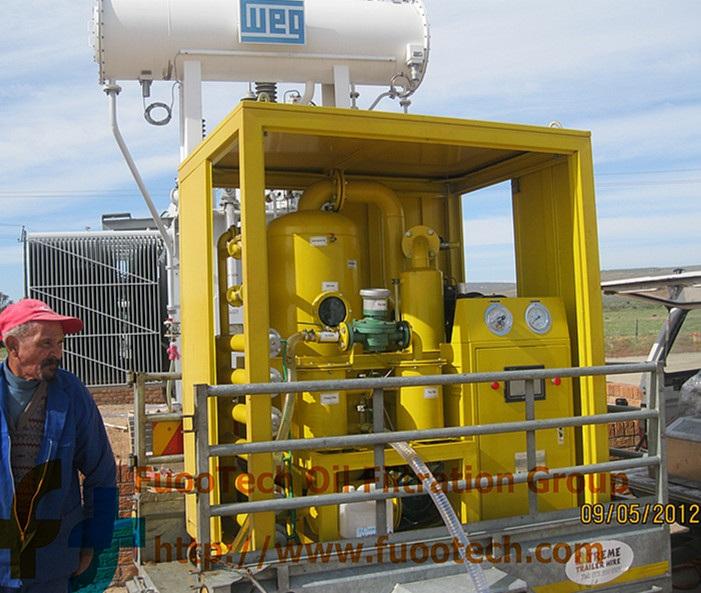 ZYD-50(3000 LPH oil filtrtion machine) at Durban