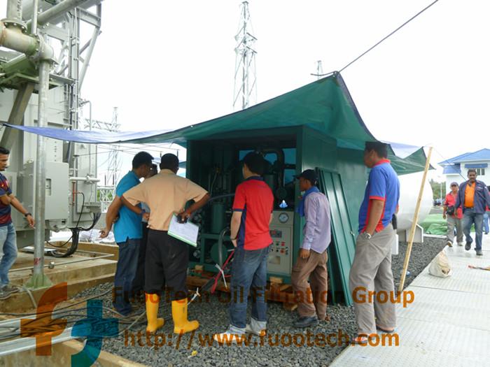 ZYD-150-(9000-LPH-oil-filtrtion-machine)-at-Cambodia