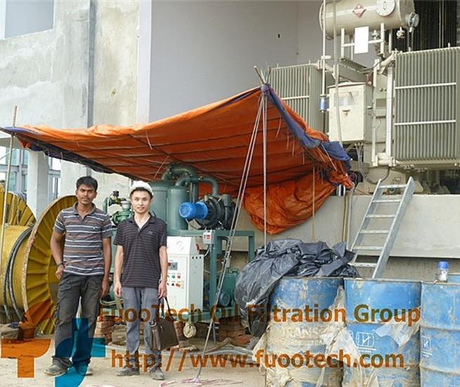 ZYD-100-(6000-LPH-oil-filtrtion-machine)-at-Bangladesh